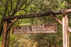 Entrada principal de Muir Woods National Park imagen de archivo