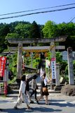 Entrada principal de Yamadera, Japão fotos de stock