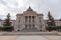 Entrada principal del edificio legislativo de Saskatchewan Foto de archivo libre de regalías