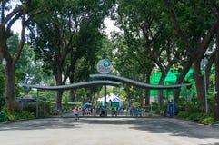 Entrada principal del parque zoológico de Saigon en la ciudad de Ho Chi Minh, Vietnam fotografía de archivo