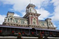 Entrada principal del reino mágico de Disney Imagen de archivo