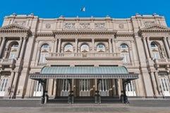 Entrada principal del teatro de los dos puntos en Buenos Aires Foto de archivo libre de regalías