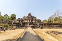 Entrada principal del templo de Phuon de los vagos, Angkor Thom, Siem Reap, Camboya Imagenes de archivo