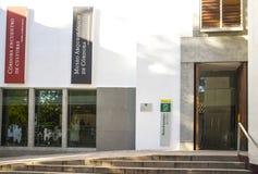Entrada principal do museu arqueológico de Córdova, Espanha fotografia de stock