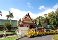 A entrada principal em Loro Parque imagem de stock