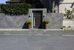 Entrada residencial Fotografia de Stock