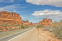 Entrada Sandstone Formations Royalty Free Stock Photography