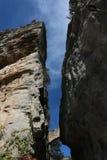 Entrada a Sant Miquel del Fai na Espanha de Bigas Catalonia Barcelona Foto de Stock Royalty Free