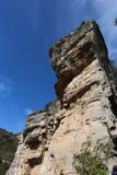 Entrada a Sant Miquel del Fai na Espanha de Bigas Catalonia Barcelona Fotos de Stock Royalty Free