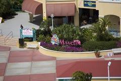 Entrada a St. Maarten Shopping imagem de stock