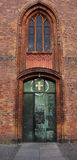 Entrada a St Nicolás de la iglesia de Spandau (Berlín) Fotografía de archivo