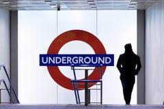Entrada subterrânea de Londres Fotografia de Stock Royalty Free