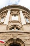 Entrada sul na universidade de Poznan de ciências médicas imagens de stock royalty free