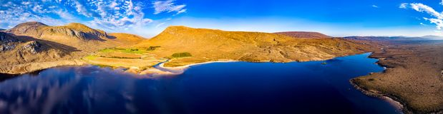 A entrada sul no parque nacional de Glenveagh ? um Gem County escondido real Donegal, Irlanda fotos de stock