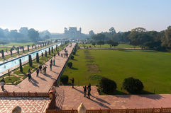 Entrada a Taj Mahal imagem de stock