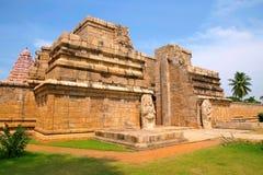 Entrada, templo de Brihadisvara, Gangaikondacholapuram, Tamil Nadu, la India Foto de archivo