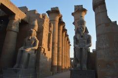 Entrada a Templo de Luxor Fotos de Stock Royalty Free