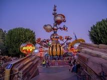 Entrada a Tomorrowland en Disneyland Fotos de archivo libres de regalías