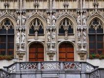 Entrada a Townhall en Lovaina Imagen de archivo libre de regalías