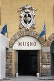 Entrada a un museo en Florencia Imagen de archivo libre de regalías