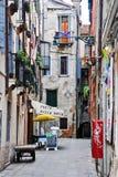 Entrada a un restaurante en Venecia, Italia Foto de archivo libre de regalías