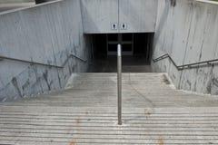 Entrada vacía del subterráneo Fotos de archivo libres de regalías