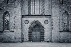 Entrada velha da catedral - Odense, Dinamarca Foto de Stock Royalty Free