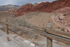 Entrada vermelha do parque da garganta da rocha, Nevada Imagens de Stock