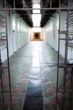 Entrada y pasillo de la prisión Imágenes de archivo libres de regalías