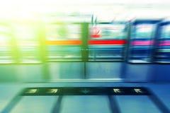 Entradas de la plataforma de la estación de metro Imagen de archivo libre de regalías