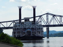 Entrado no beira-rio Foto de Stock Royalty Free