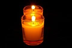 Entrambe la candela Fotografia Stock Libera da Diritti