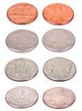 Monete americane - angolo alto Fotografia Stock Libera da Diritti