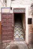 Entrance. House entrance in the historic city of Marrakech. Morocco Royalty Free Stock Photo