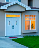 Entrance. Entrance of a two-story house in dusk in Vancouver, Canada Stock Photography