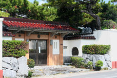 Entrance. Gated entrance to a traditional Japanese home property on the island of Okinawa Royalty Free Stock Photos
