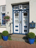 Entrance. Beautiful entrance of a house in Holm. Holm is a district of the town of Schleswig, Schleswig-Holstein, Germany stock photos