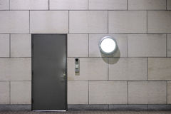 Entrance. With a combination lock and surveillance camera Stock Images