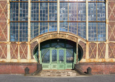 Entrance. Of an Art Nouveau Machine Shop of a Coal Mine Zeche Zollern, Dortmund, Germany Royalty Free Stock Image