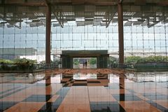 Entrance. To Changi airport Singapore royalty free stock photos