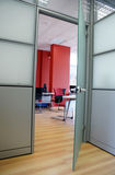 Entrance. To a contemporary design office room Stock Image
