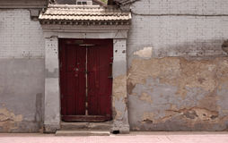 Entrance. Of a chinese house royalty free stock photo