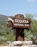 Entrance. To the Sequoia National Park royalty free stock photo