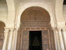 Entrance. To the Great Mosque in Tunisia stock photo