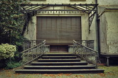 Entrance of an abandoned house Stock Photo