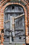 Entrance of abandoned orthodox church Royalty Free Stock Image