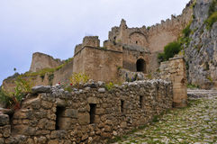 Entrance of acrocorinth. Royalty Free Stock Photos