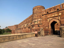 Entrance of the Agra Fort. Royalty Free Stock Photos