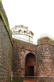 Entrance of Aguada Fort Stock Photo