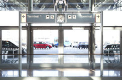 Entrance Airport Terminal Royalty Free Stock Photo